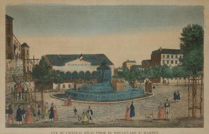 Artiste non identifié  Vue du château d'eau...