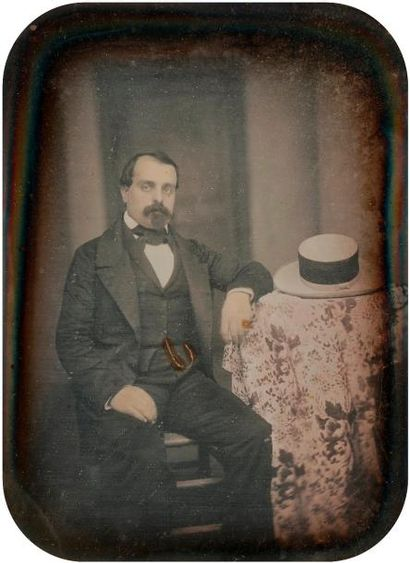 Daguerréotypiste non identifié  Homme au...