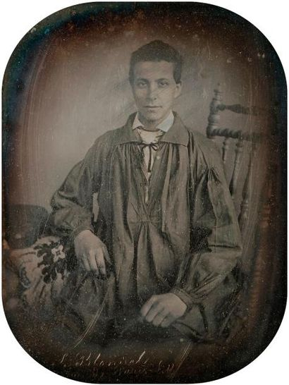 Alphonse Le Blondel  Portrait d'homme à la...
