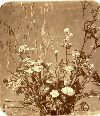 Adolphe Braun (1811-1877)  Bouquet de fleurs,...