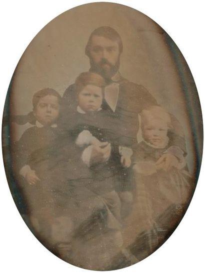 Daguerréotypiste non identifié  Père et ses...