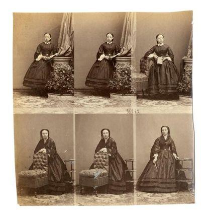 Eugène Disdéri (1819-1889)  Six portraits...