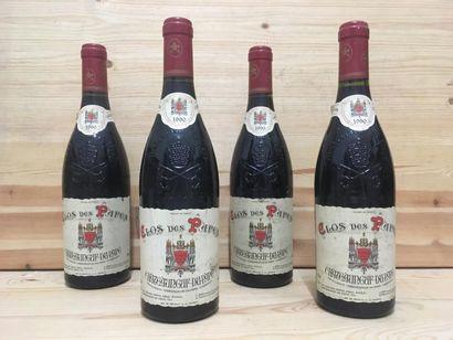 4 B CHATEAUNEUF DU PAPE Rouge (e.t. légères; clm.s. légères), Clos des Papes, 1...