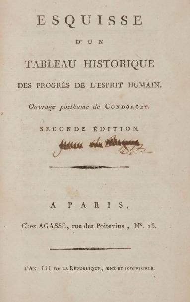 CONDORCET (Jean-Antoine-Nicolas de Caritat,...