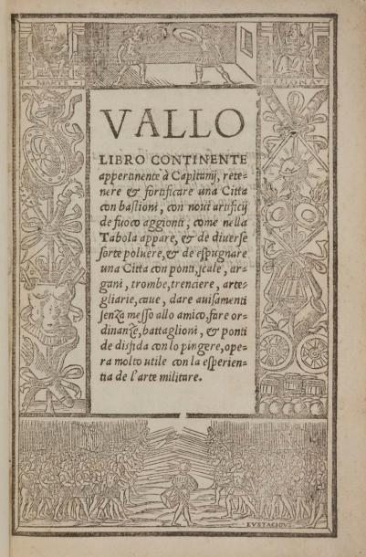 DELLA VALLE (Battista). Libro continente...