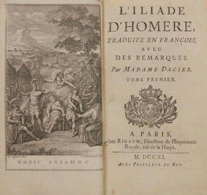 HOMÈRE. L'Iliade. - L'Odyssée. Paris : Rigaud,...