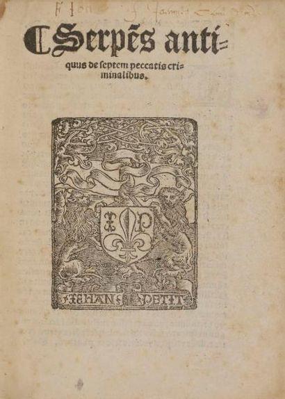HUET (Guillaume). Serpe(ns) antiquus de septem...