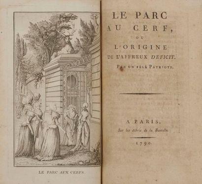 [BOURDON (Louis Gabriel)]. Le Parc au cerf,...