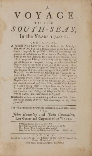 BULKELEY (John) - CUMMINS (John). A voyage...