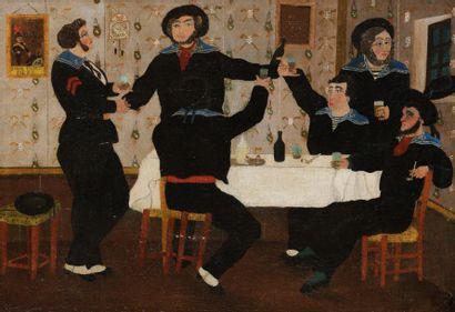 S. BLONDEAU (XIXe-XXe siècle) Les Matelots...