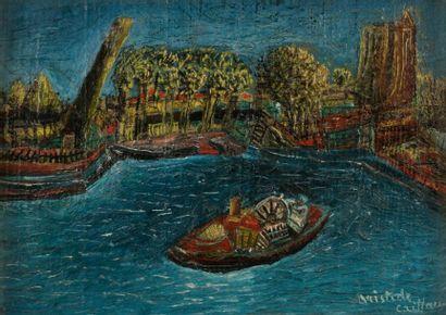 Aristide CAILLAUD (1902-1990) Remorqueur...