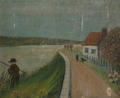 Ferdinand DESNOS (1901-1958) Pêcheur aux...