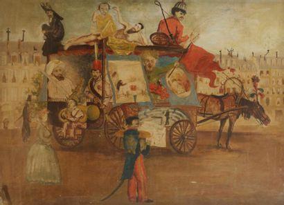 ÉCOLE fin XIXe siècle Allégorie du Concert...