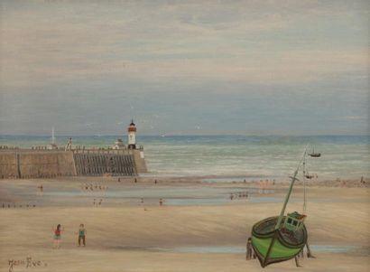 Jean EVE (1900-1968) Le phare de Mers-les...