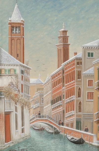 Jean EVE (1900-1968) Venise, San Barnaba...