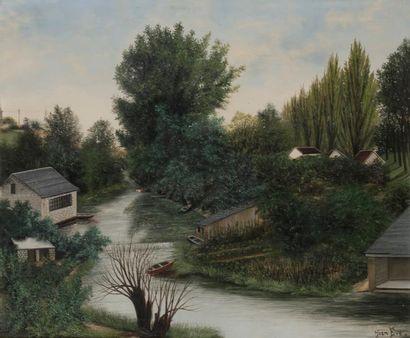 Jean EVE (1900-1968) Petit paysage du Vexin...
