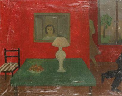 Jacqueline FROMENTEAU (XXe siècle) Scène...