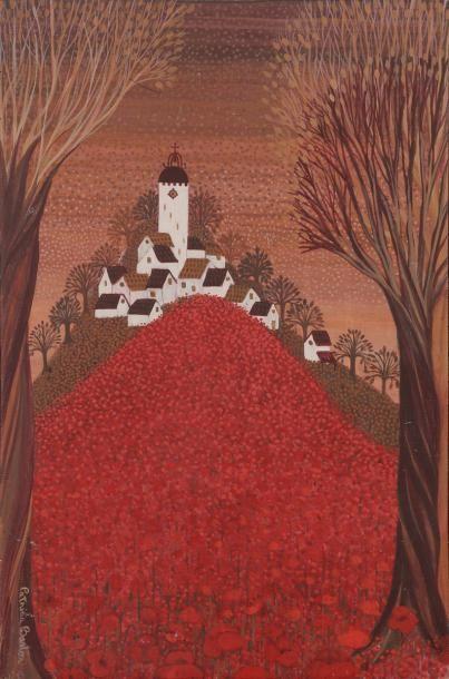 Patricia BARTON (née en 1928) Village au...