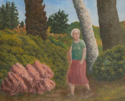 André BAUCHANT (1873-1958) La Promenade,...