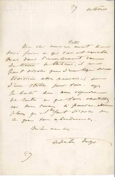 Adèle HUGO (1803-1868) femme de Victor Hugo....