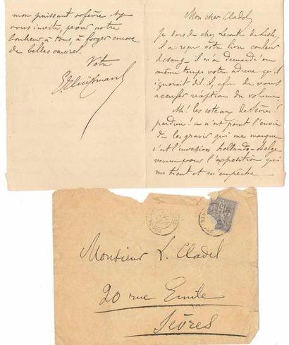 Joris-Karl HUYSMANS (1848-1907). L.A.S., [14 mai 1878], à Léon Cladel à Sèvres;...