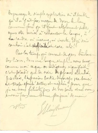 Joris-Karl HUYSMANS. L.A.S., Paris 30 juin...