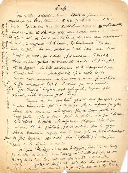 Max JACOB. 2 manuscrits autographes; 1page...