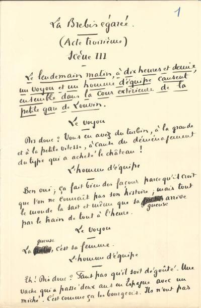 Francis JAMMES (1868-1938). Manuscrit autographe...