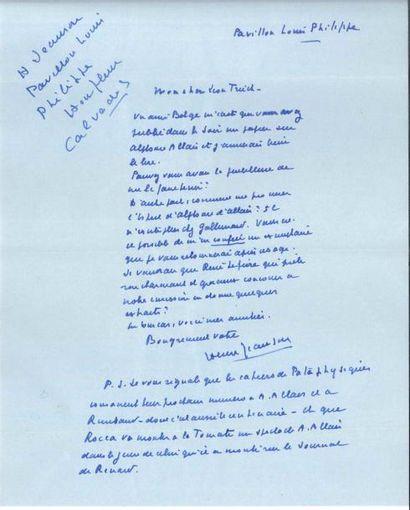 Henri JEANSON (1900-1970). 5 L.A.S., Honfleur...