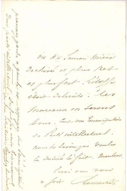 Alphonse de LAMARTINE. L.A.S., [1848?];...