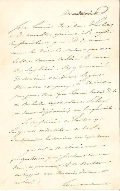 Alphonse de LAMARTINE. 3 L.A.S., 1853 et...
