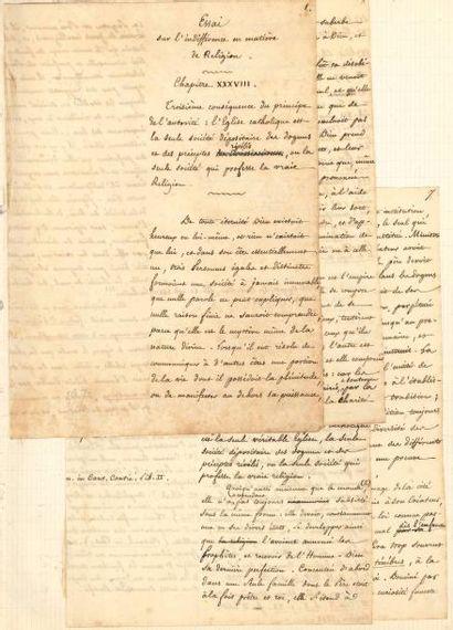 Félicité de LAMENNAIS (1782-1854). Manuscrit...