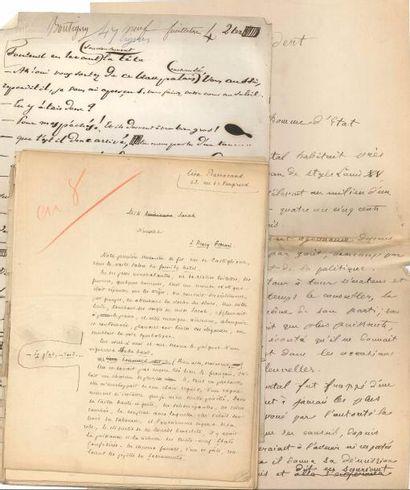 littérature. 9 manuscrits autographes (7 signés), 1 L.A.S. et 1 L.S. Léon Barracand...