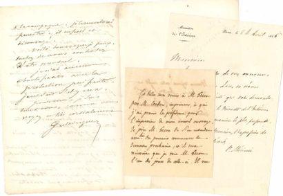 Littérature. 13 L.A.S., 4 L.A. et un manuscrit autographe. Pierre Simone Ballanche...