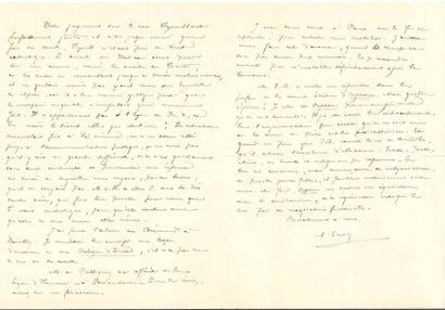 Alfred LOISY (1857-1940) philosophe, historien des religions, ancien prêtre, il...