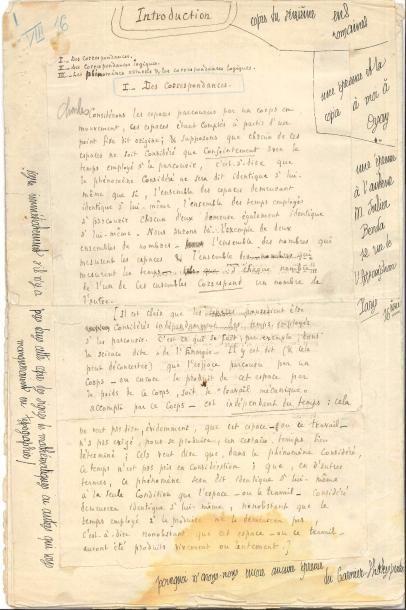Julien BENDA (1867-1956). Manuscrit autographe...