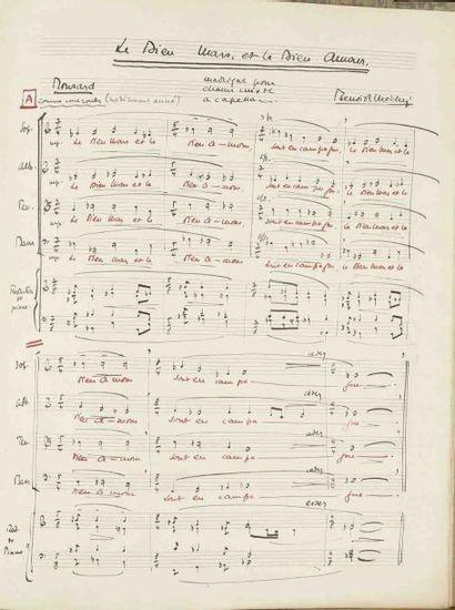 Jacques BENOIST-MÉCHIN (1901-1983). Manuscrit...