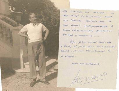 Georges BERNANOS (1888-1948). L.A.S., [Hyères...