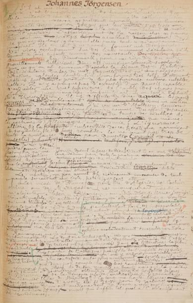 Léon BLOY. Manuscrit autographe, Johannes...