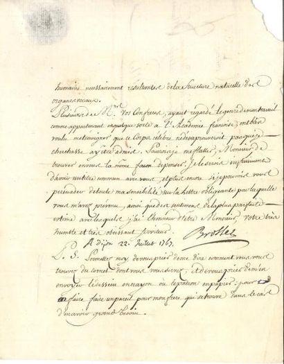 Charles de BROSSES (1709-1777) premier président...