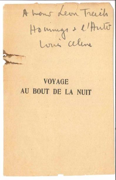 Louis-Ferdinand CÉLINE (1894-1961). P.A.S.;...
