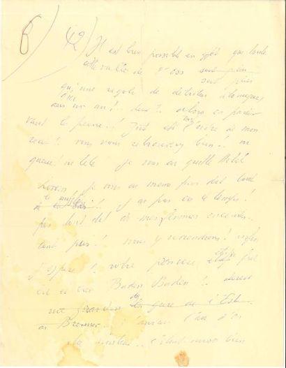 Louis-Ferdinand CÉLINE. Manuscrit autographe...