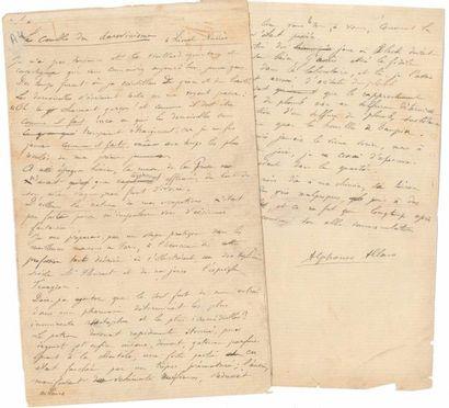 Alphonse ALLAIS (1855-1905). Manuscrit autographe...