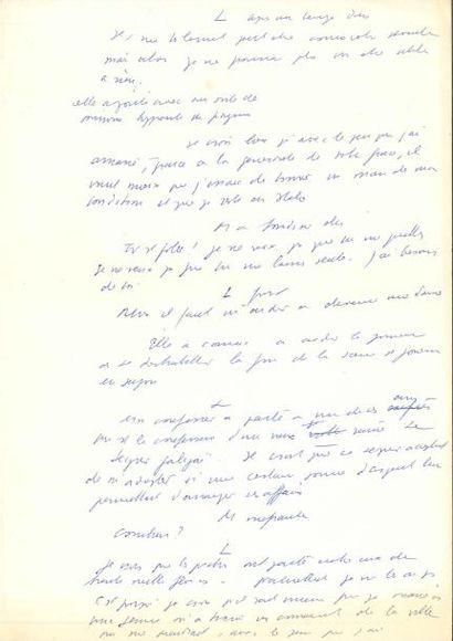 Jean ANOUILH. Manuscrit autographe, [Vive...