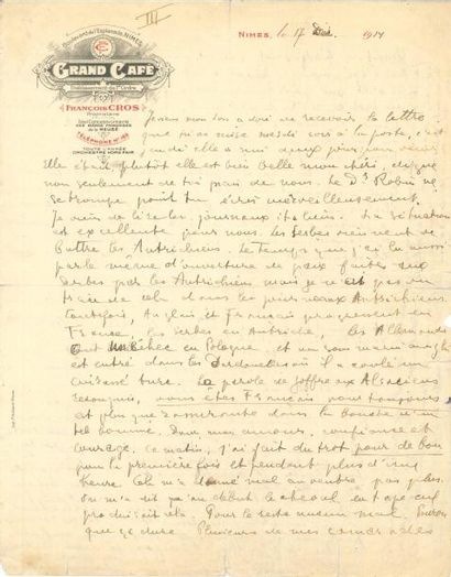 Guillaume APOLLINAIRE (1880-1918). L.A.S....
