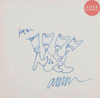 ARMAN (1928-2005) Tubes, 1987 Feutre bleu....