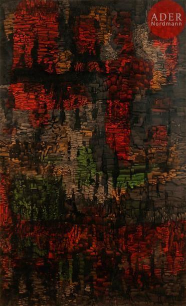 Simone BELLET (1901-1990) Composition Huile...