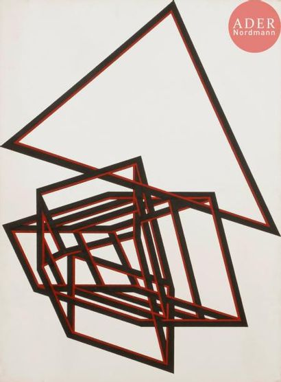 Ode BERTRAND (née en 1930) Composition, 1987...