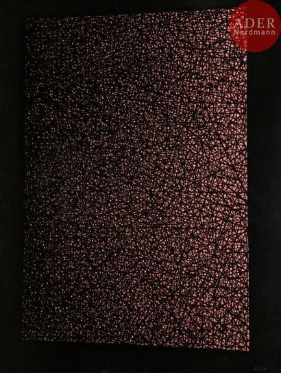 William BRUI (né en 1946) Composition Encre....