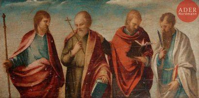 École VENITIENNE vers 1540 Quatre apôtres...